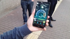 Messung am Smartphone
