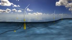 Schwimmende Windräder: höhere Windgeschwindigkeiten als in Küstennähe