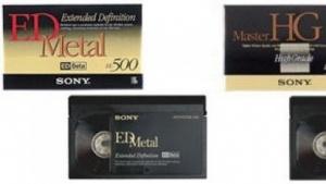 Videokassetten von Sony: im Videoformatkrieg unterlegen