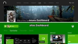 Neues und altes Dashboard der Xbox One