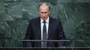 Russischer Präsident Wladimir Putin (vor der UN im September 2015): Der Westen untergräbt das atomare Gleichgewicht.