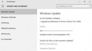 Windows 10 aktualisiert sich auf die Build-Version 10586.