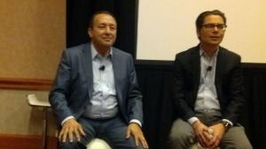 Ayman Sayed, Chief Product Officer (links) und Otto Berkes, Chief Technology Officer von CA Technologies (rechts)