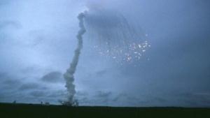 Explosion der ersten Ariane-5-Rakete am 4. Juni 1996