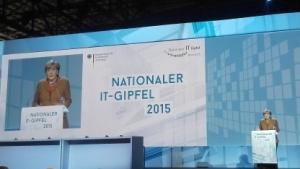 Bundeskanzlerin Angela Merkel auf dem IT-Gipfel in Berlin