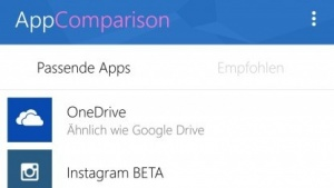 App Comparison soll Android-Nutzer vom App-Angebot des Microsoft Stores überzeugen.