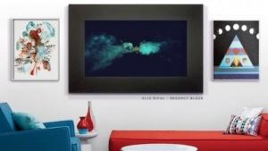Der schwarze Bilderrahmen ist eigentlich ein digitales Kunstwerk.
