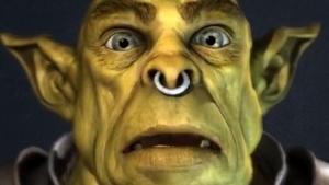 Von Faceshift in Echtzeit animierter Ork