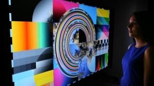 Ausstellung mit UHD-Digital-Fernsehbildern