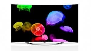Ein gekrümmter OLED-Fernseher vom Typ 65EC9700