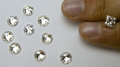 So sehen die von den Wissenschaftlern hergestellten Diamanten nicht aus.