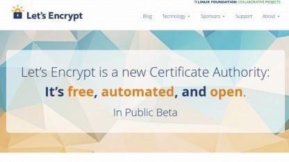 Die offene Beta von Let's Encrypt hat begonnen.
