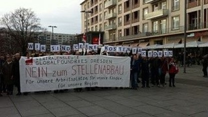 Protest bei Globalfoundries