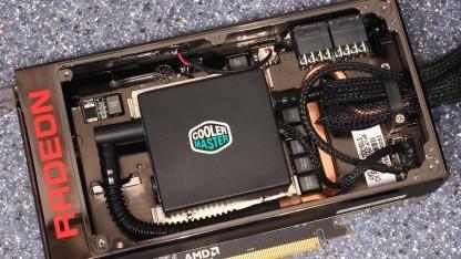 Die Wasserkühlung der Radeon R9 Fury X stammt von Coolermaster.