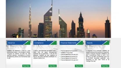 Screenshot der Webseite der Invest Bank (via Archive.org)