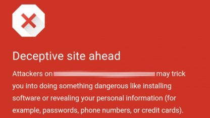 Wer diesen Bildschirm in seinem Chrome-Browser sieht, sollte sich seine weiteren Schritte überlegen.