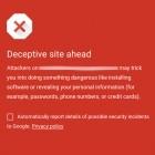 Safe Browsing: Chrome für Android warnt vor schädlichen Internetseiten