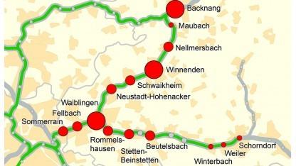 Die mit Sensoren ausgestatteten Parkhäuser liegen an Bahnhöfen der S2 und S3. Die Belegung der Plätze wird minutengenau ermittelt.