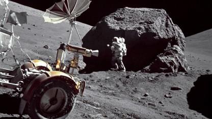 Astronaut der Apollo-17-Mission auf dem Mond (Symbolbild): einmal zum Mars, Rückflug inklusive