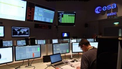 Das Esa-Kontrollzentrum während des Pathfinder-Starts