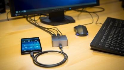 Microsofts Lumia 950 XL mit Display-Dock