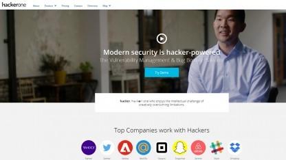 Die Webseite von Hackerone