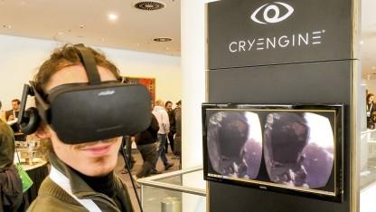 Spielentwickler mit Oculus Rift