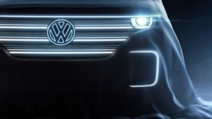 VW-Teaser für das Elektrokonzeptauto zur CES 2016.