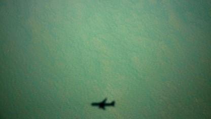 Schatten einer Boeing 767