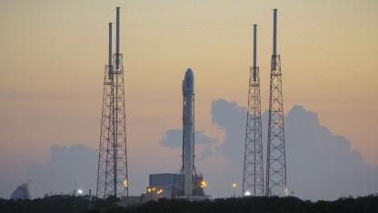 Falcon 9 auf der Startrampe (am 16. Dezember 2015): Probleme mit der Treibstoffzufuhr