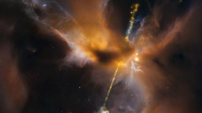 Geburt eines Sterns im Sternbild Orion: Teleskope fangen viele Arten von Licht ein.