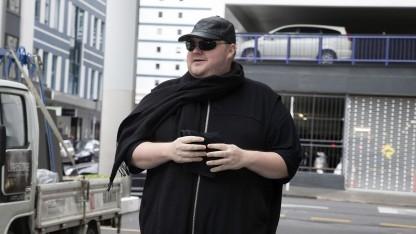 Kim Dotcom am 24. September 2015 beim Gericht