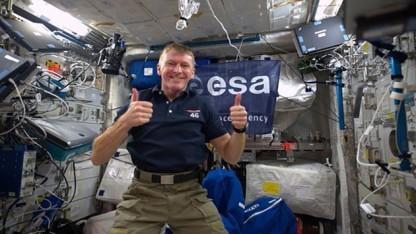 Tim Peake auf der Raumstation ISS