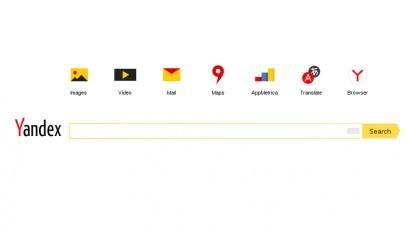 Das englischsprachige Angebot von Yandex