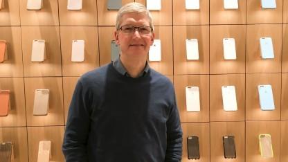 Apple-Chef Tim Cook im Dezember 2015