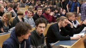 Hörsaal an der Universität Rostock