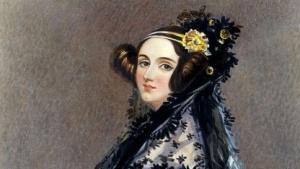 Die bekannteste Darstellung von Ada Lovelace, das Gemälde von Alfred Edward Chalon.
