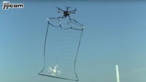 Polizeidrohne mit Fang: Drohne mit radioaktiver Erde auf dem Dach des Amtssitzes des Präsidenten