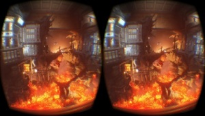 Fire Strike als VR-Szene der 3DMark Holiday Beta