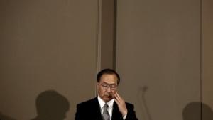 Toshiba Corp President und CEO Masashi Muromachi im Dezember 2015