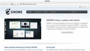 Mit WebkitGTK lassen sich Webseiten in GTK-Anwendungen rendern - wie hier Gnome.org.