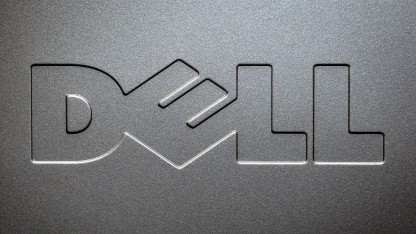 Dell-Logo im Oktober 2015 in New York