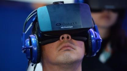 Prototyp von Oculus Rift im Einsatz