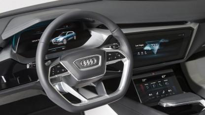 HMI des Audi E-Tron Quattro Concept: Touchscreen mit Handschrifterkennung