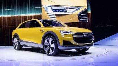 Brennstoffzellenauto Audi H-Tron Quattro Concept: Wasserdampf als Abgas (Bild: Audi), Brennstoffzellenauto