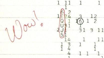 Scan des namensgebenden Dokuments von Jerry R. Ehman