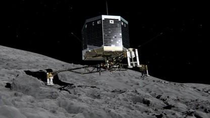 Philae bei der Landung