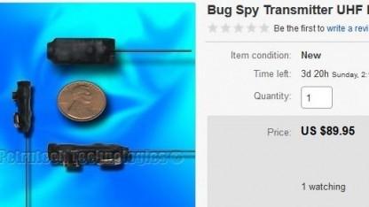 Abhörwanzen sind auch auf Ebay erhältlich.