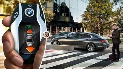 Die Einparkhilfe von BMW erlaubt ein ferngesteuertes Ein- und Ausparken.