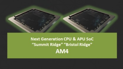 Bristol Ridge (Carrizo mit DDR4) und Summit Ridge (Zen-CPU) erscheinen für den Sockel AM4.